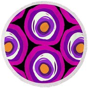 Large Scale Spots Round Beach Towel