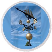 Largest Weathervane Round Beach Towel