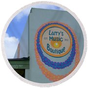 Larrys Music Boutique  Est 1952 Round Beach Towel
