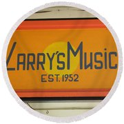 Larrys Music  Est 1952 Round Beach Towel