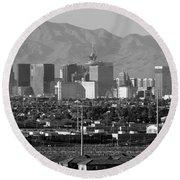 Las Vegas Suburbs Round Beach Towel