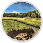 Lassen Meadows Round Beach Towel