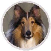 Lassie Come Home Round Beach Towel