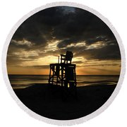 Last Day Of Summer Round Beach Towel