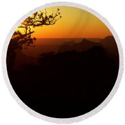 Last Golden Rays - Grand Canyon Round Beach Towel
