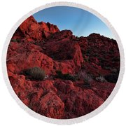Last Light In Valley Of Fire Round Beach Towel