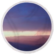 Last Light Of Day Round Beach Towel