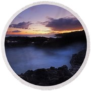 Last Light Over The South Shore Round Beach Towel