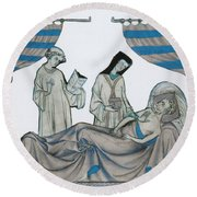 Last Rites, Middle Ages Round Beach Towel