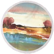 Late Afternoon 38 Round Beach Towel