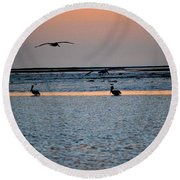 Late Comers Round Beach Towel