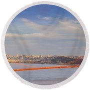 Late Evening Over San Francisco Round Beach Towel