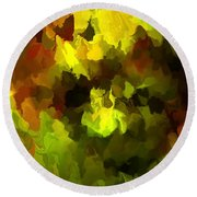 Late Summer Nature Abstract Round Beach Towel