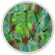 Laughing Lotus Round Beach Towel