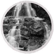 Laurel Falls In The Smoky Mountains Round Beach Towel