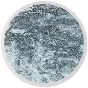 Lava Abstract Round Beach Towel
