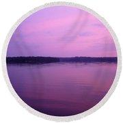 Lavender Glow Round Beach Towel