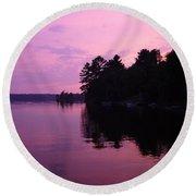 Lavender Lake Round Beach Towel