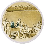 Lavoisier Experimenting Round Beach Towel