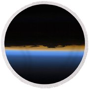 Layers Of Earths Atmosphere Round Beach Towel