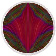 Layers Of The Flame Round Beach Towel
