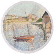 Le Clipper - Asnieres Round Beach Towel