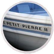 Le Petit Pierre II Round Beach Towel