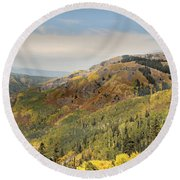 Lead King Basin Road 2 Round Beach Towel
