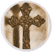 Lead Me To The Cross 2 Round Beach Towel