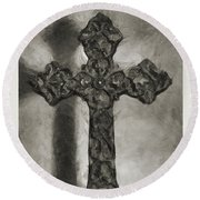 Lead Me To The Cross 4 Round Beach Towel