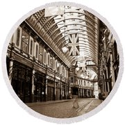 Leadenhall Market London With  Round Beach Towel