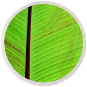 Leaf Abstract Round Beach Towel