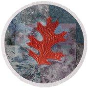 Leaf Life 01 - T01b Round Beach Towel