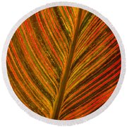 Leaf Pattern Abstract Round Beach Towel