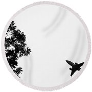 Leafing On A Jet Plane Round Beach Towel