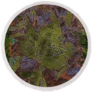 Leafy Goodness Round Beach Towel
