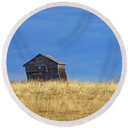 Leaning Barn Round Beach Towel