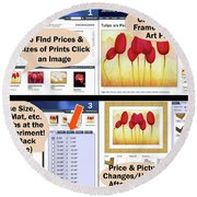 Learn How It Works Round Beach Towel