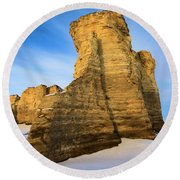 Learn Tower Of Monument Rocks Round Beach Towel
