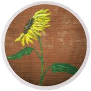 Leavenworth Sunflower  Round Beach Towel