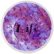 Leaves Of Life Round Beach Towel