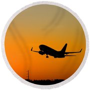 Leaving On A Jet Plane Round Beach Towel