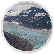 Leconte Glacial Flow Round Beach Towel