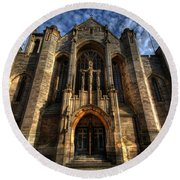 Leeds Cathedral Round Beach Towel