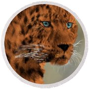 Leopard - Featured In The Group Wildlife Round Beach Towel