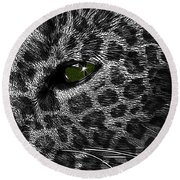 Leopard Within Round Beach Towel