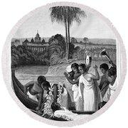 Leper, 1837 Round Beach Towel