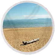 Let Sleeping Logs Lie Round Beach Towel
