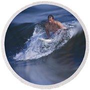 Let's Go Surfing Round Beach Towel