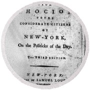 Letter From Phocion, 1784 Round Beach Towel